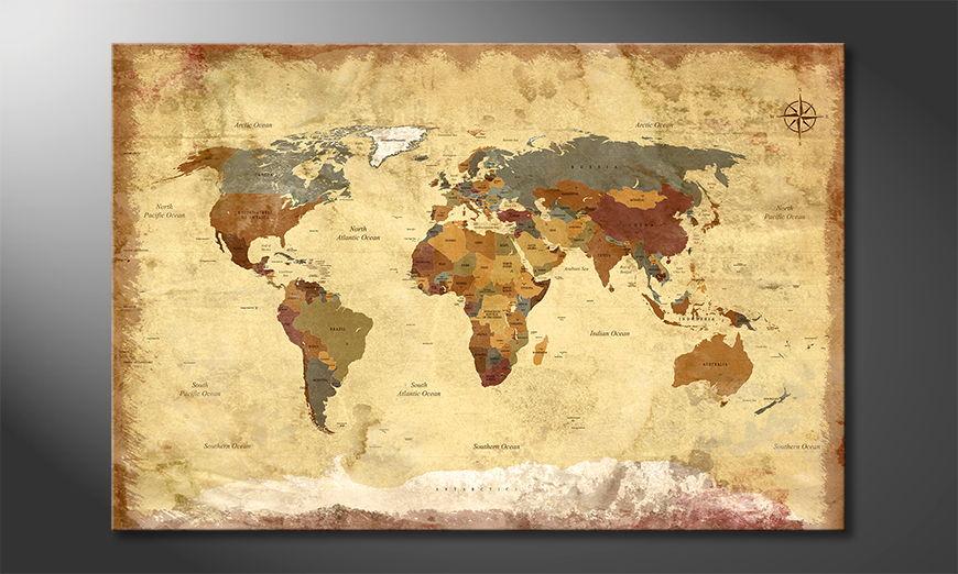 The modern art print Old Worldmap 4