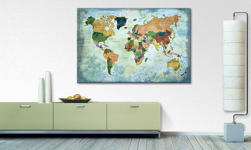 The modern art print Oldworldmap one