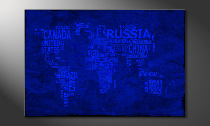 The modern art print Worldmap 10