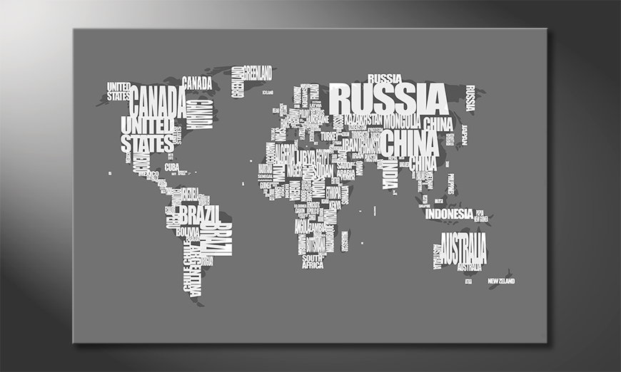 The modern art print Worldmap 11