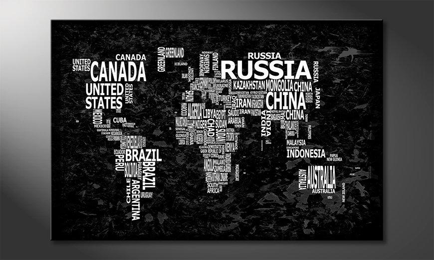 The modern art print Worldmap 12