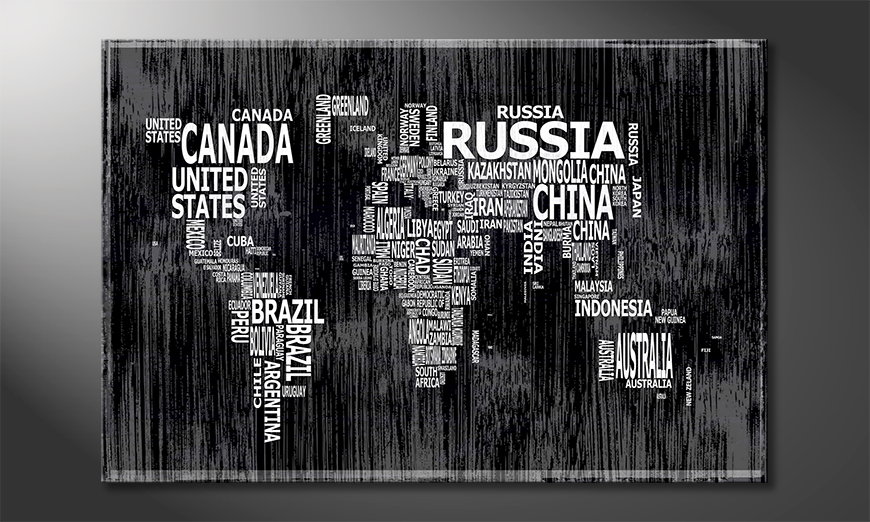 The modern art print Worldmap 13