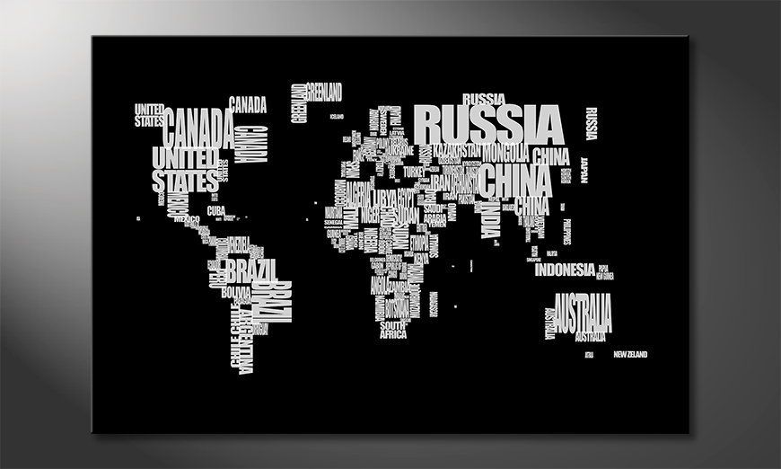 The modern art print Worldmap 14