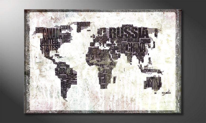 The modern art print Worldmap 17