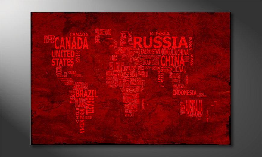 The modern art print Worldmap 18