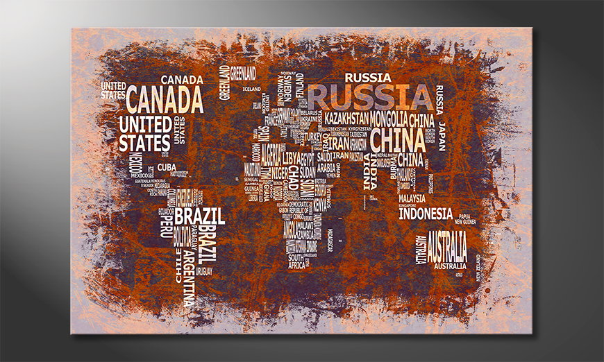 The modern art print Worldmap 19