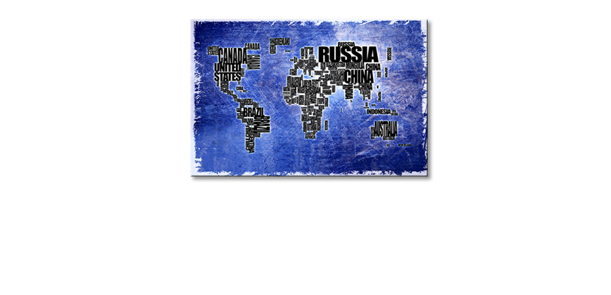 The modern art print Worldmap 2