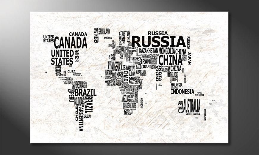 The modern art print Worldmap 21