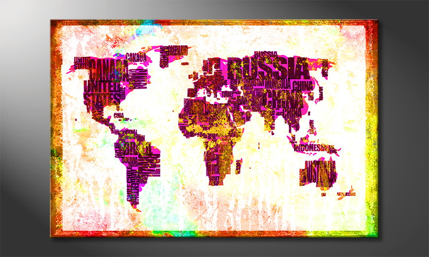 The modern art print Worldmap 3