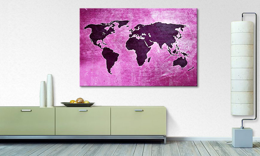 The modern art print Worldmap 4