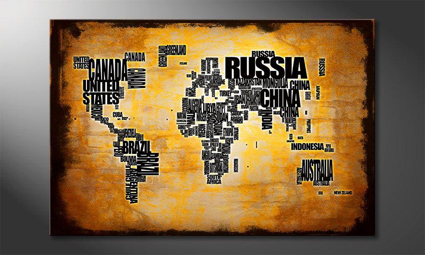 The modern art print Worldmap 5