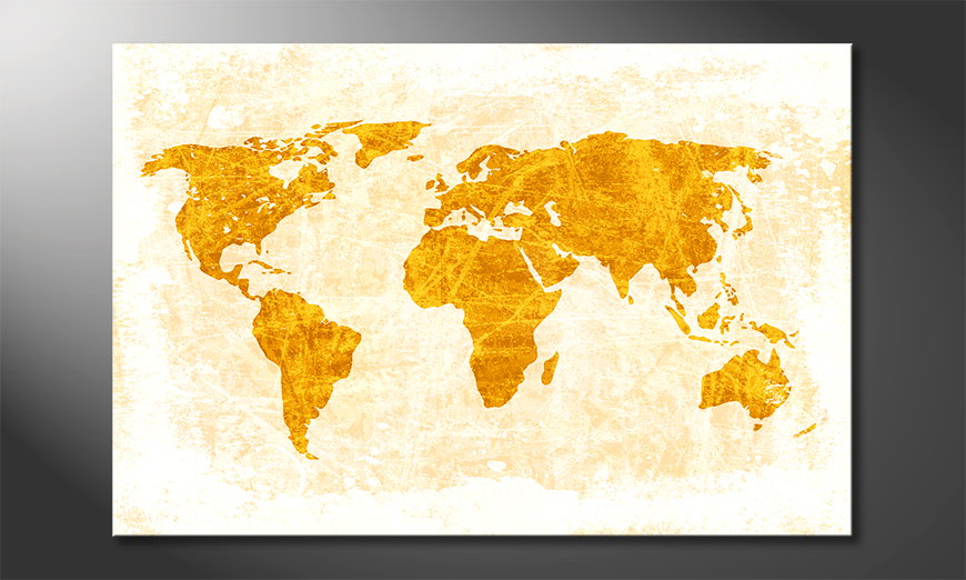 The modern art print Worldmap 7