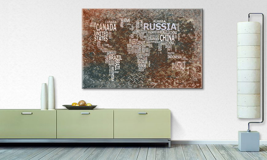 The modern art print Worldmap 8