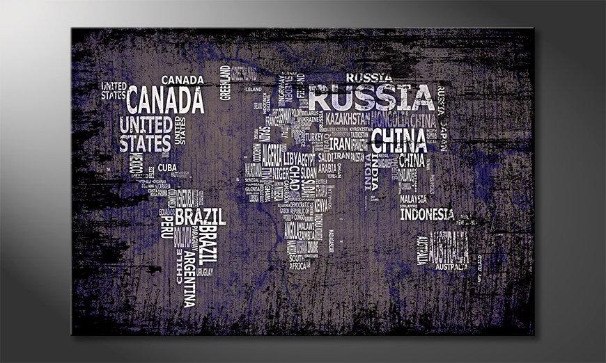 The modern art print Worldmap 9