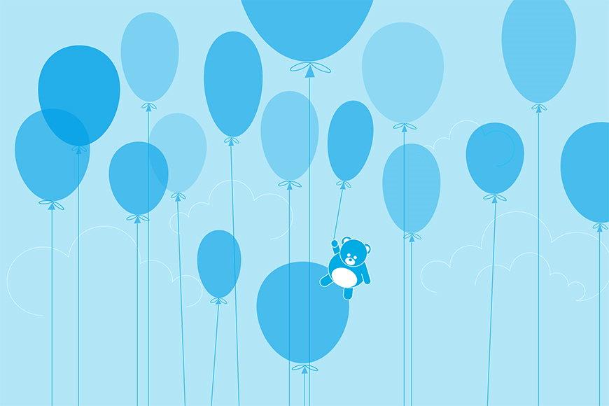 Photo-wallpaper Balloon Teddy from 120x80cm