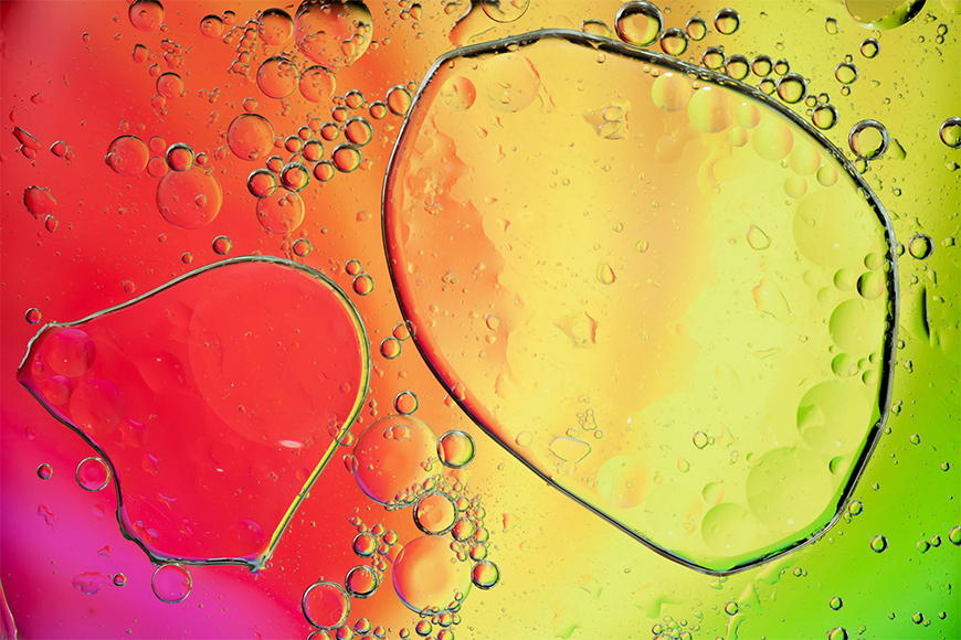 Photo-wallpaper Colour drops from 120x80cm