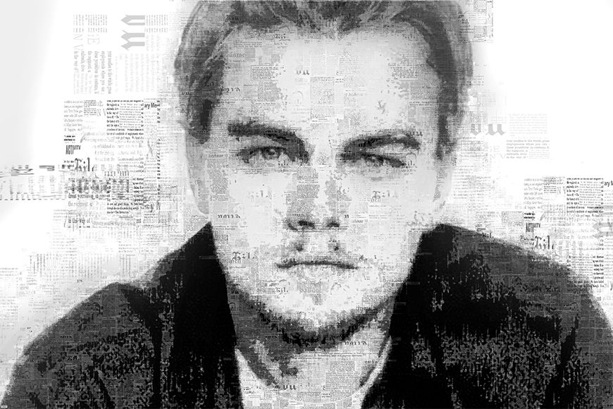 Photo wallpaper DiCaprio from 120x80cm