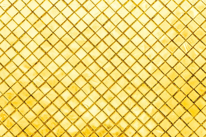 Photo-wallpaper Golden Mosaic from 120x80cm