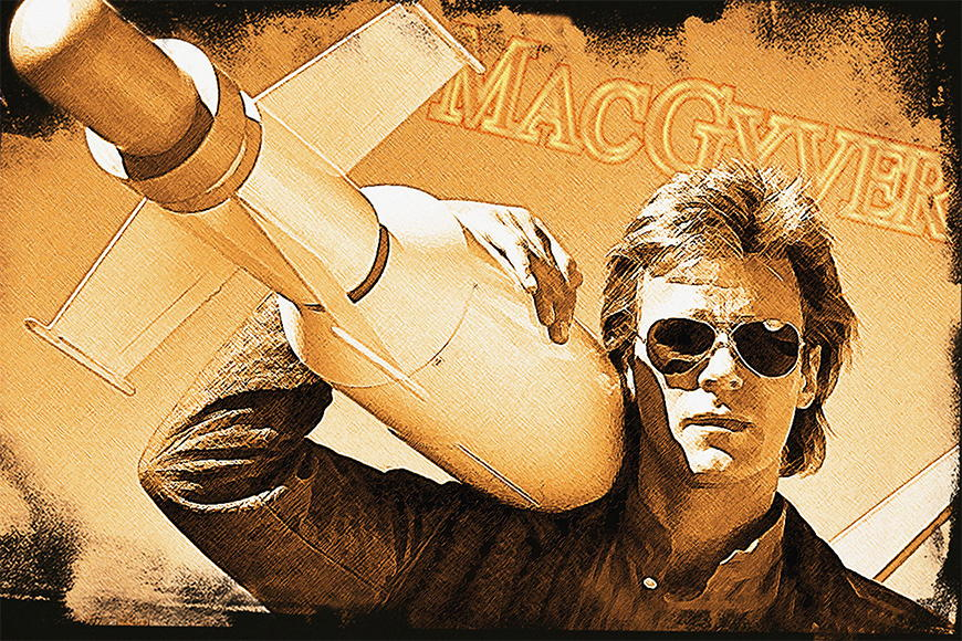 Photo-wallpaper Mc Gyver from 120x80cm