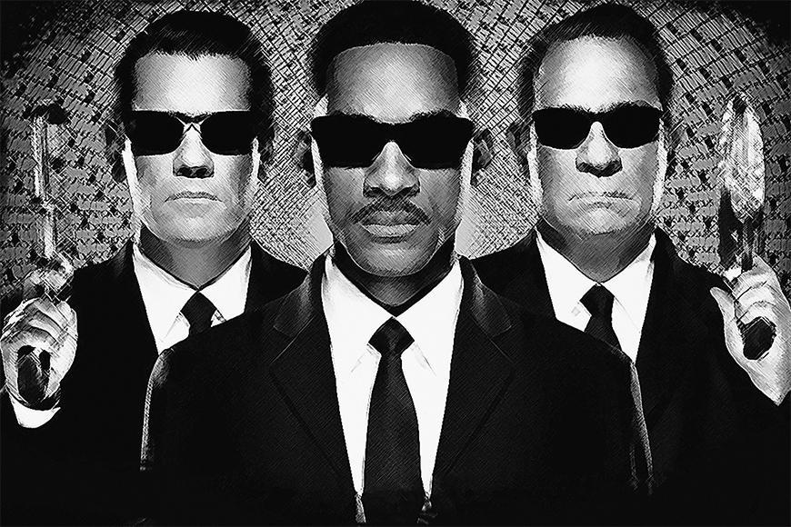 Photo-wallpaper Men in Black from 120x80cm