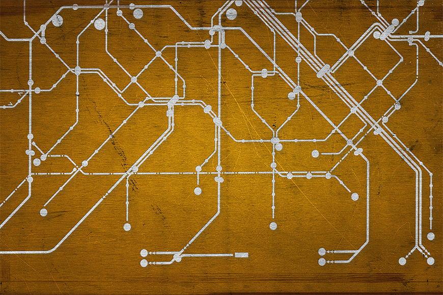 Photo-wallpaper Metro Paris from 120x80cm