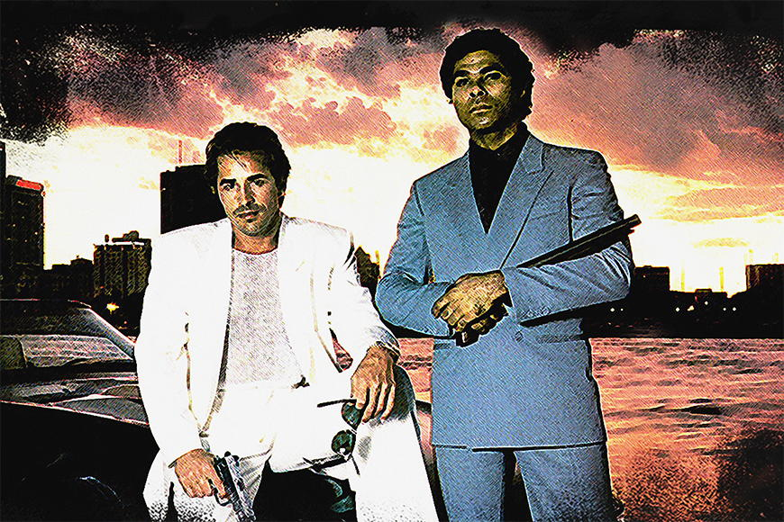 Photo-wallpaper Miami Vice from 120x80cm