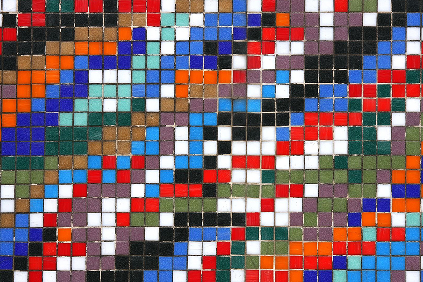 Photo-wallpaper Motley tiles from 120x80cm