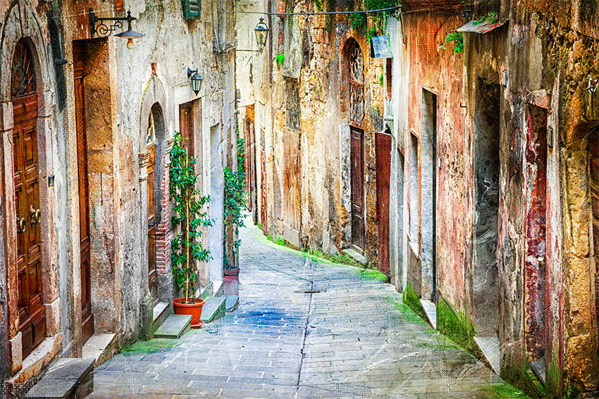 Photo wallpaper Picturesque alley from 120x80cm