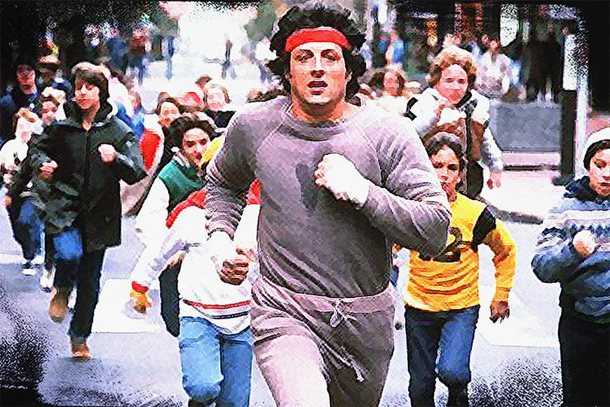 Photo-wallpaper Run Rocky Run from 120x80cm