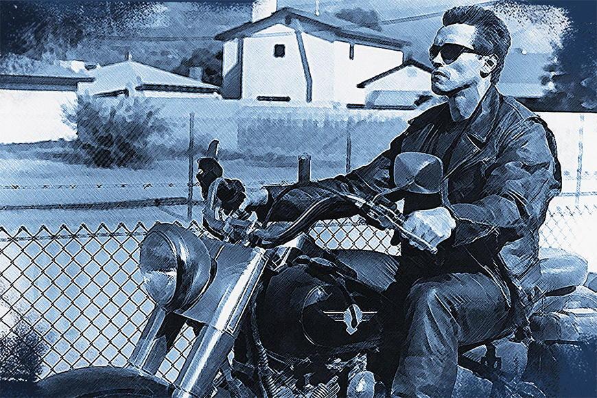 Photo-wallpaper Terminator from 120x80cm
