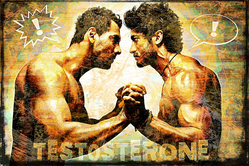 Photo wallpaper Testosterone from 120x80cm