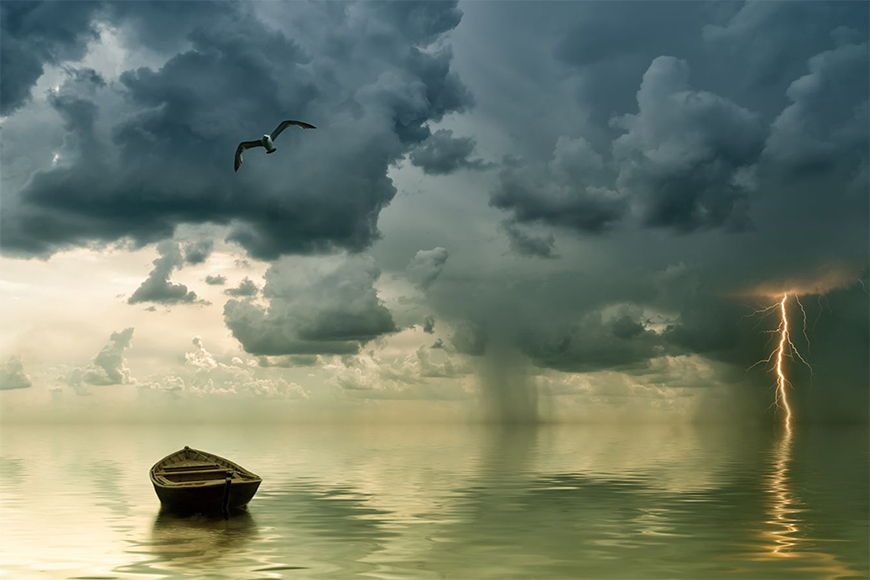 Photo-wallpaper Thunderstorm from 120x80cm