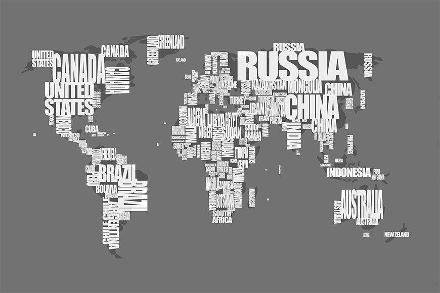 Photo-wallpaper Worldmap 11 from 120x80cm