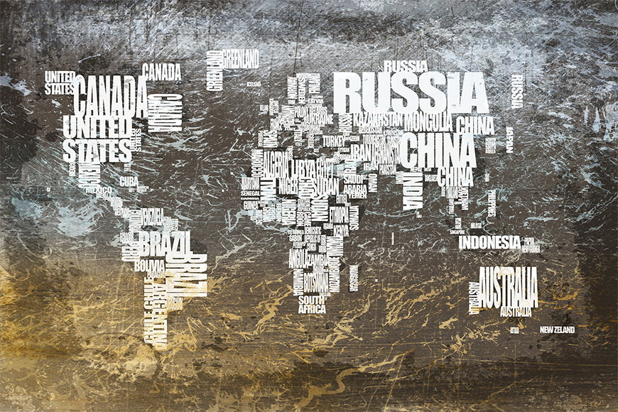 Photo-wallpaper Worldmap 20 from 120x80cm