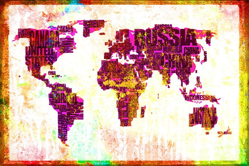 Photo-wallpaper Worldmap 3 from 120x80cm