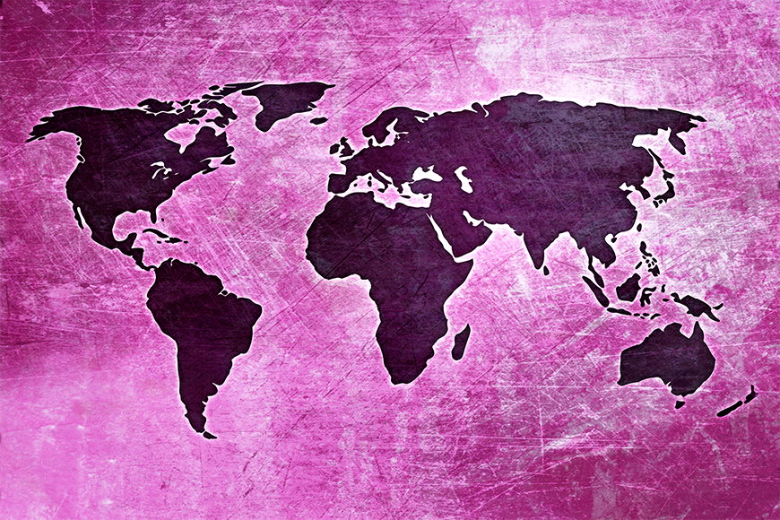 Photo-wallpaper Worldmap 4 from 120x80cm