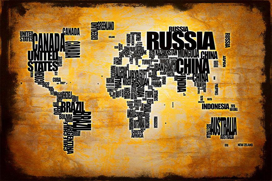 Photo-wallpaper Worldmap 5 from 120x80cm