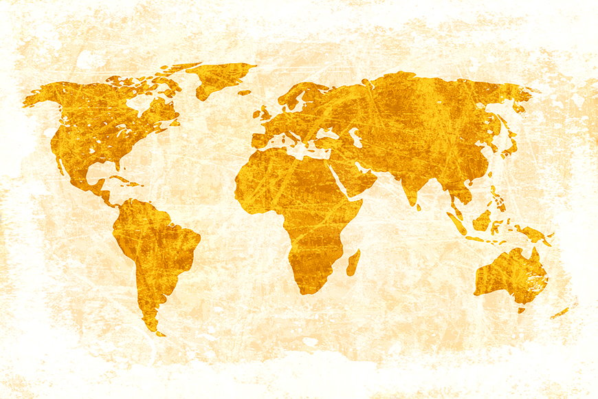 Photo-wallpaper Worldmap 7 from 120x80cm
