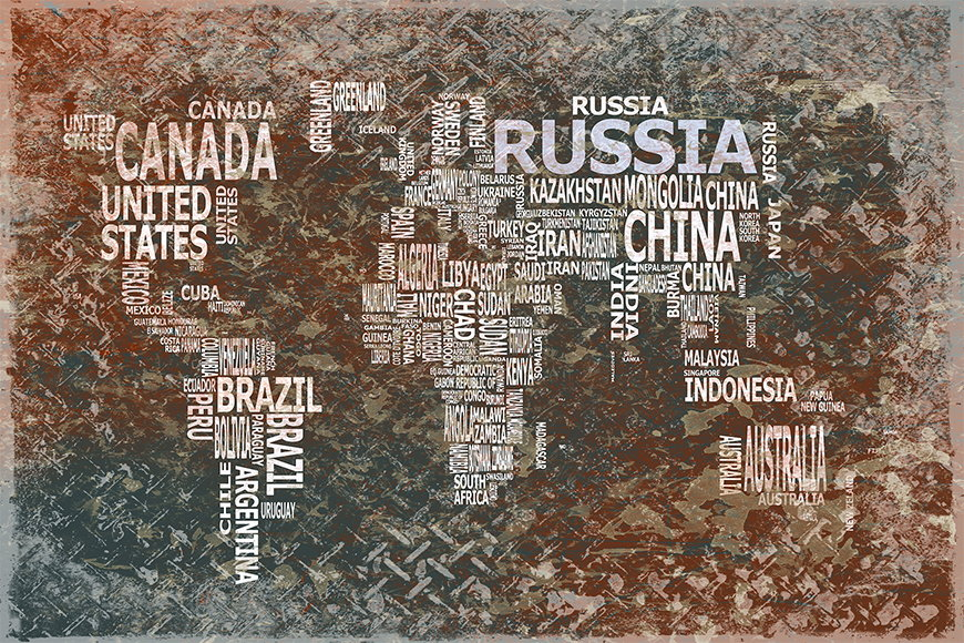 Photo-wallpaper Worldmap 8 from 120x80cm