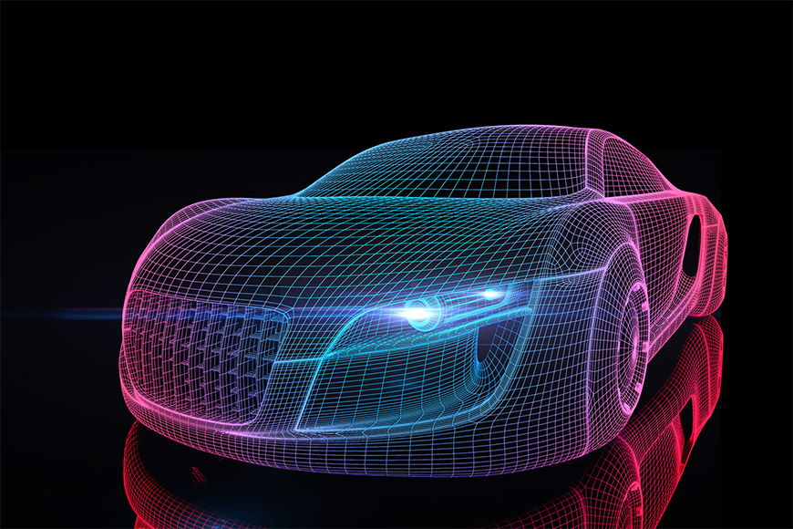Photo-wallpaper future car from 120x80cm
