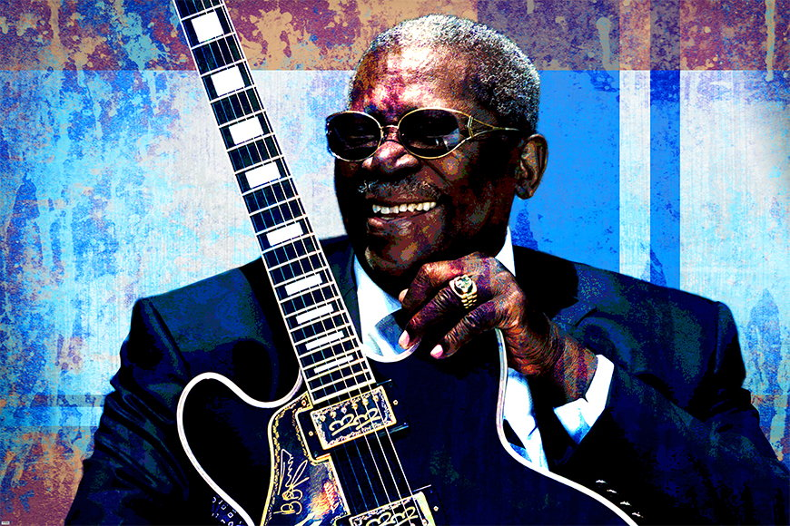 Wallpaper BB King from 120x80cm