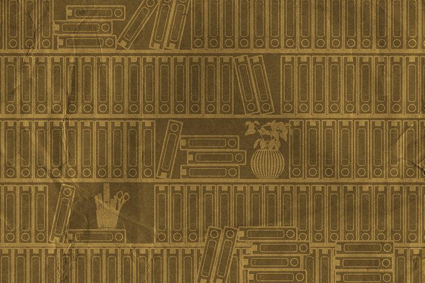 Wallpaper Bookshelf I from 120x80cm