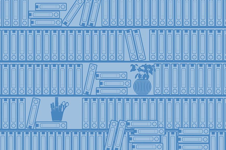 Wallpaper Bookshelf II from 120x80cm