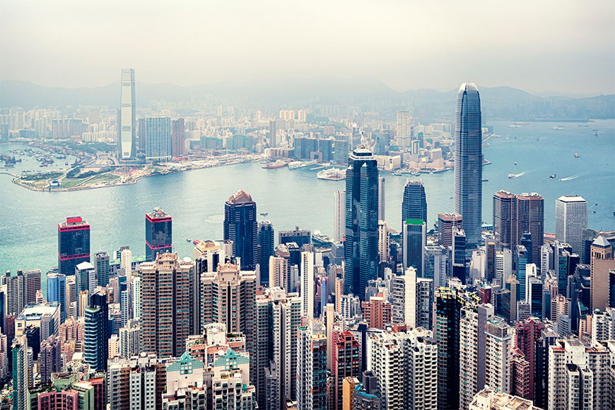 Wallpaper Hongkong Skyline from 120x80cm