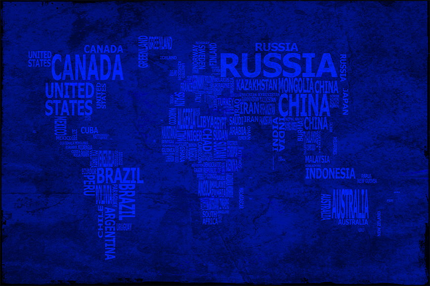 Wallpaper Worldmap 10 from 120x80cm