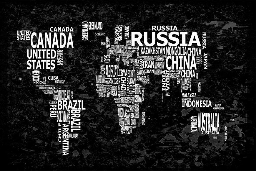 Wallpaper Worldmap 12 from 120x80cm