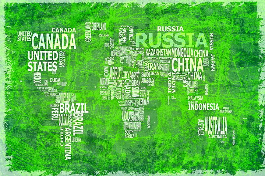 Wallpaper Worldmap 16 from 120x80cm