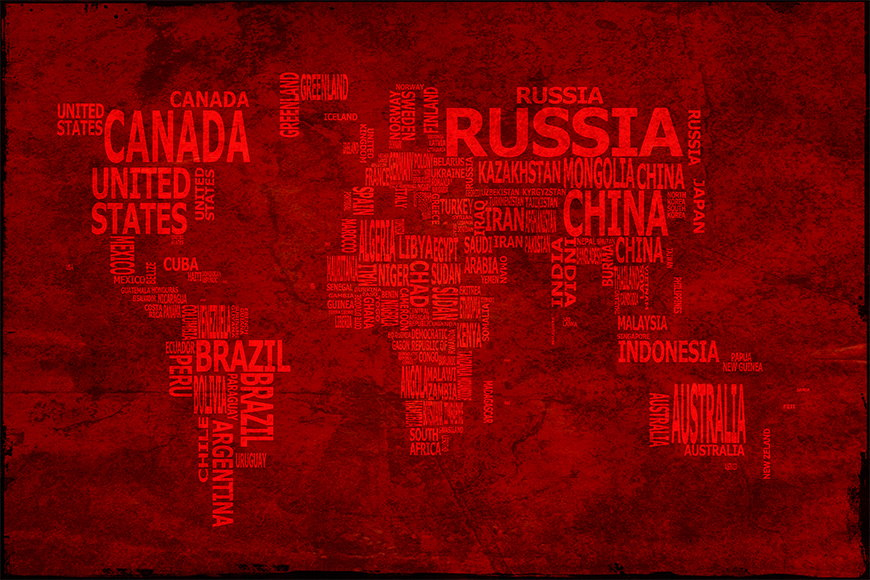 Wallpaper Worldmap 18 from 120x80cm