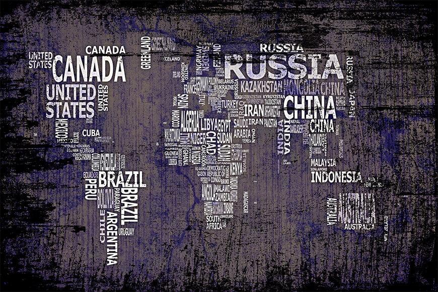 Wallpaper Worldmap 9 from 120x80cm